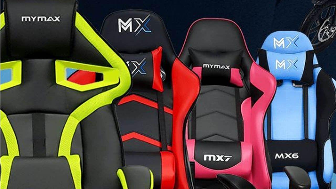 Cadeira Mymax em várias cores lado a lado e em destaque