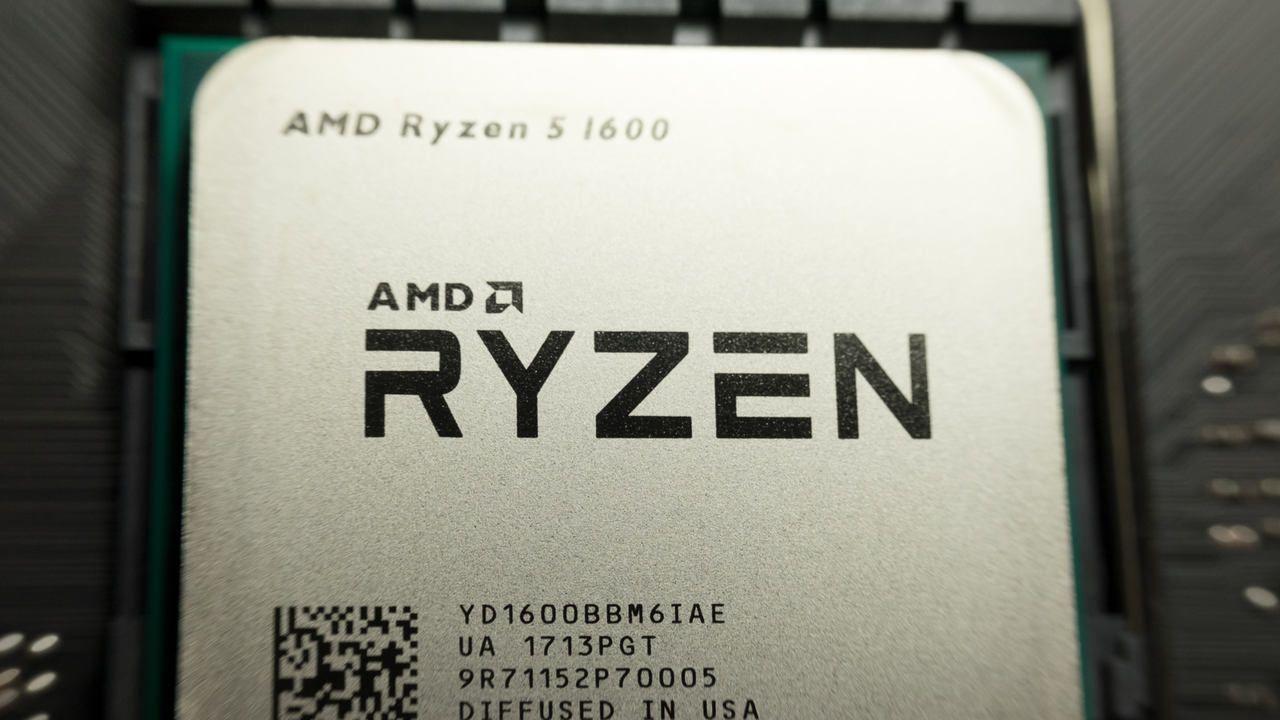 Ryzen 5 1600 em close