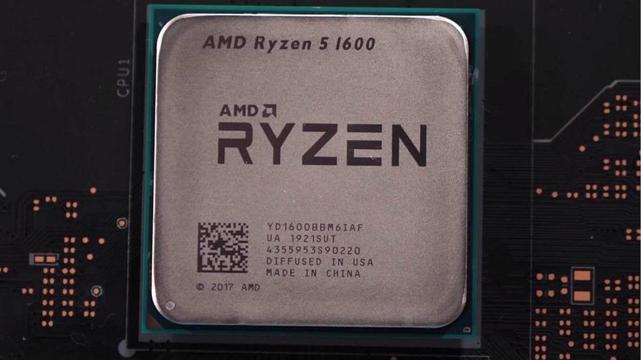 Ryzen 5 1600 AF em close