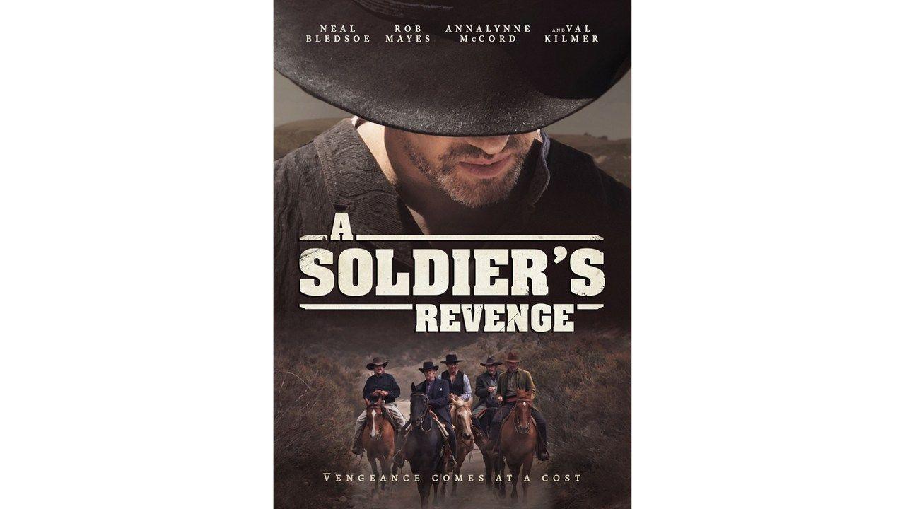 """Cartaz de divulgação do filme """"A Soldier's Revenge"""" no Paramount Plus"""