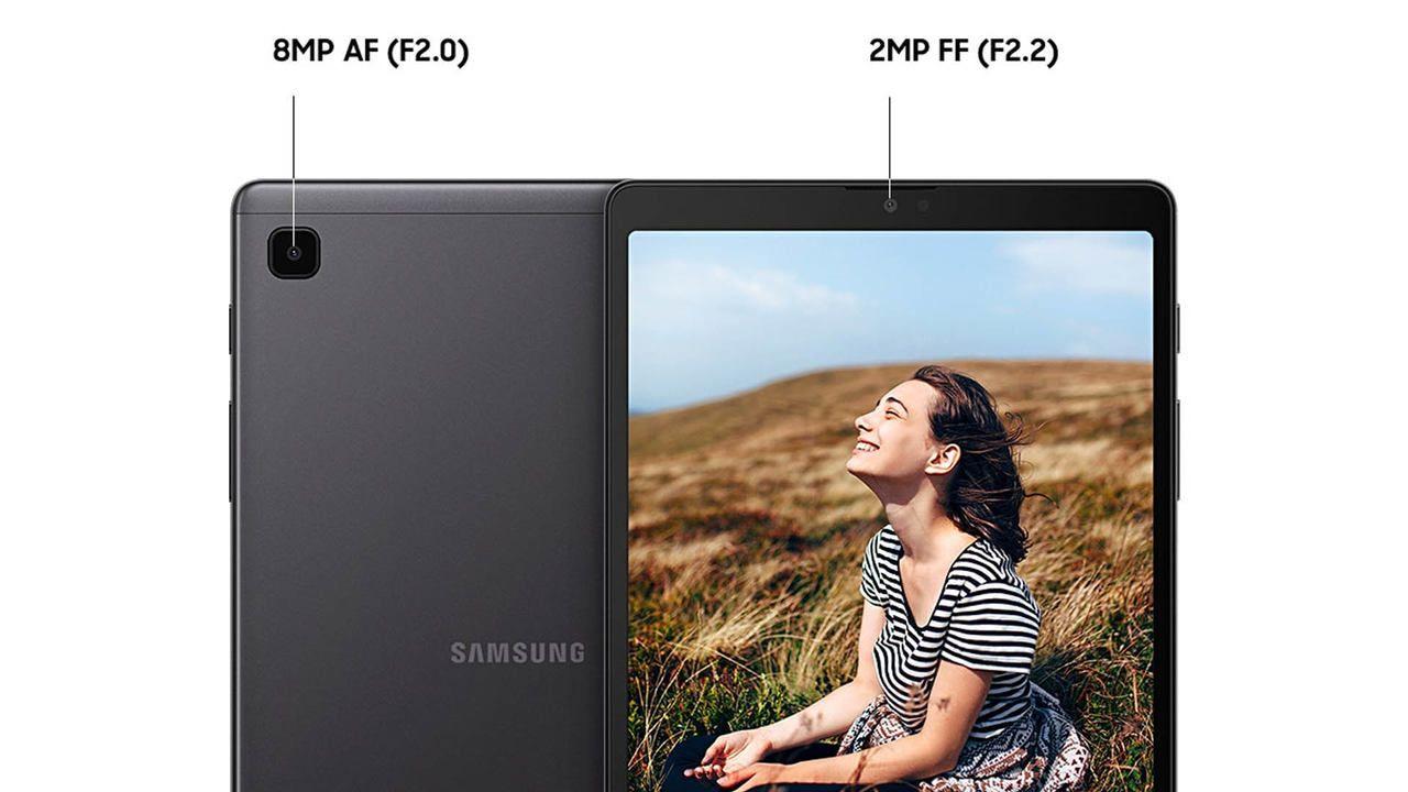 Imagem das duas câmeras do Galaxy Tab A7 Lite