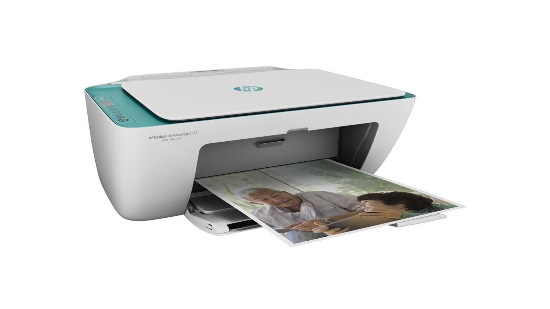 Imagem da frente da impressora HP 2676