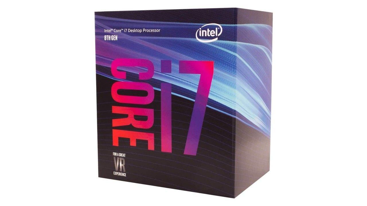 Caixa do processador Intel Core i7 8700K