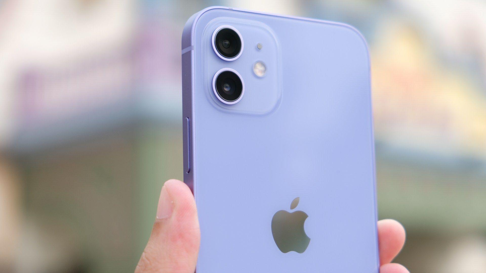 Foto do conjunto de câmeras do iPhone 12