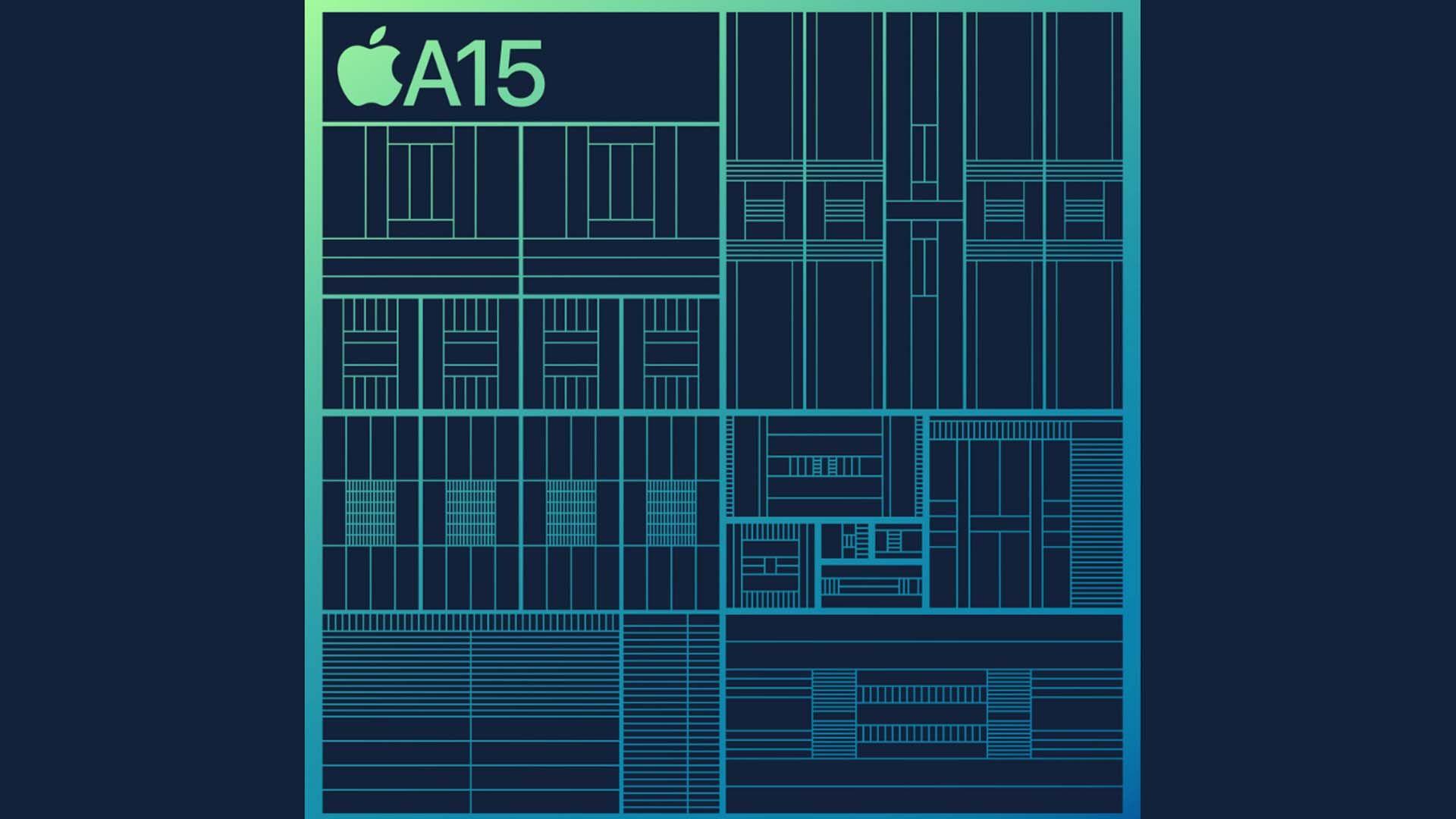 Imagem feita para representar o Apple A15