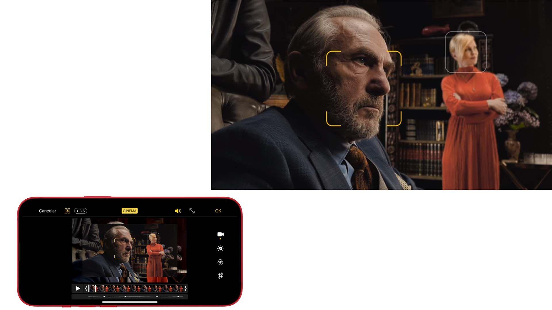 Imagem para mostrar o Modo Cinema do iPhone 13 Mini