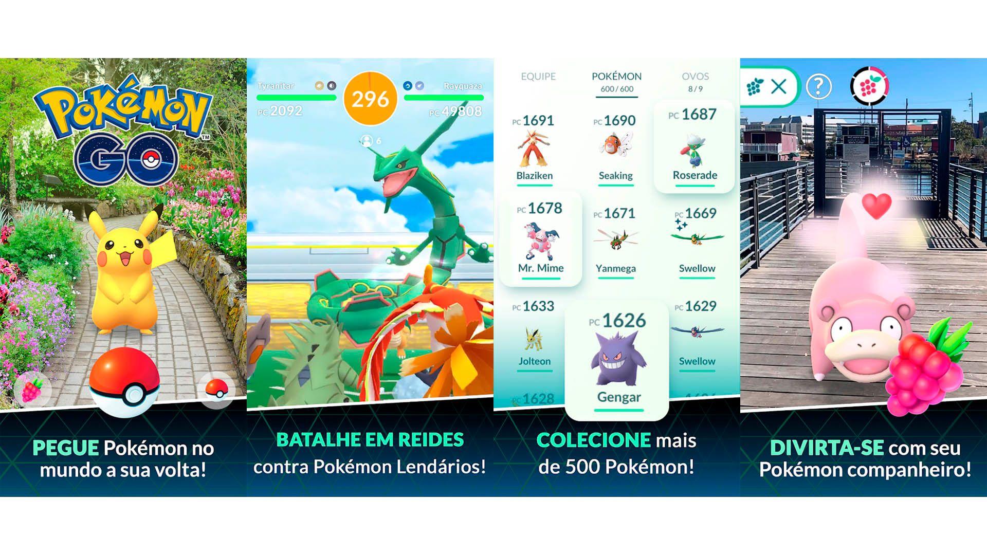 Imagens do jogo Pokémon Go