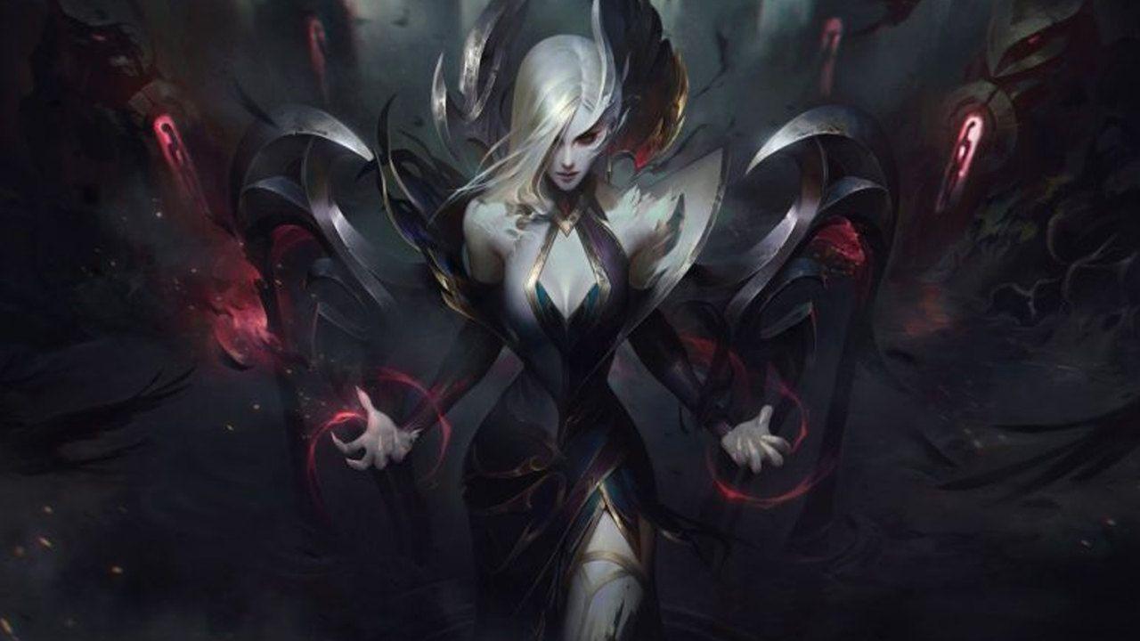 LoL skin da Morgana em evento Congregação das Bruxas