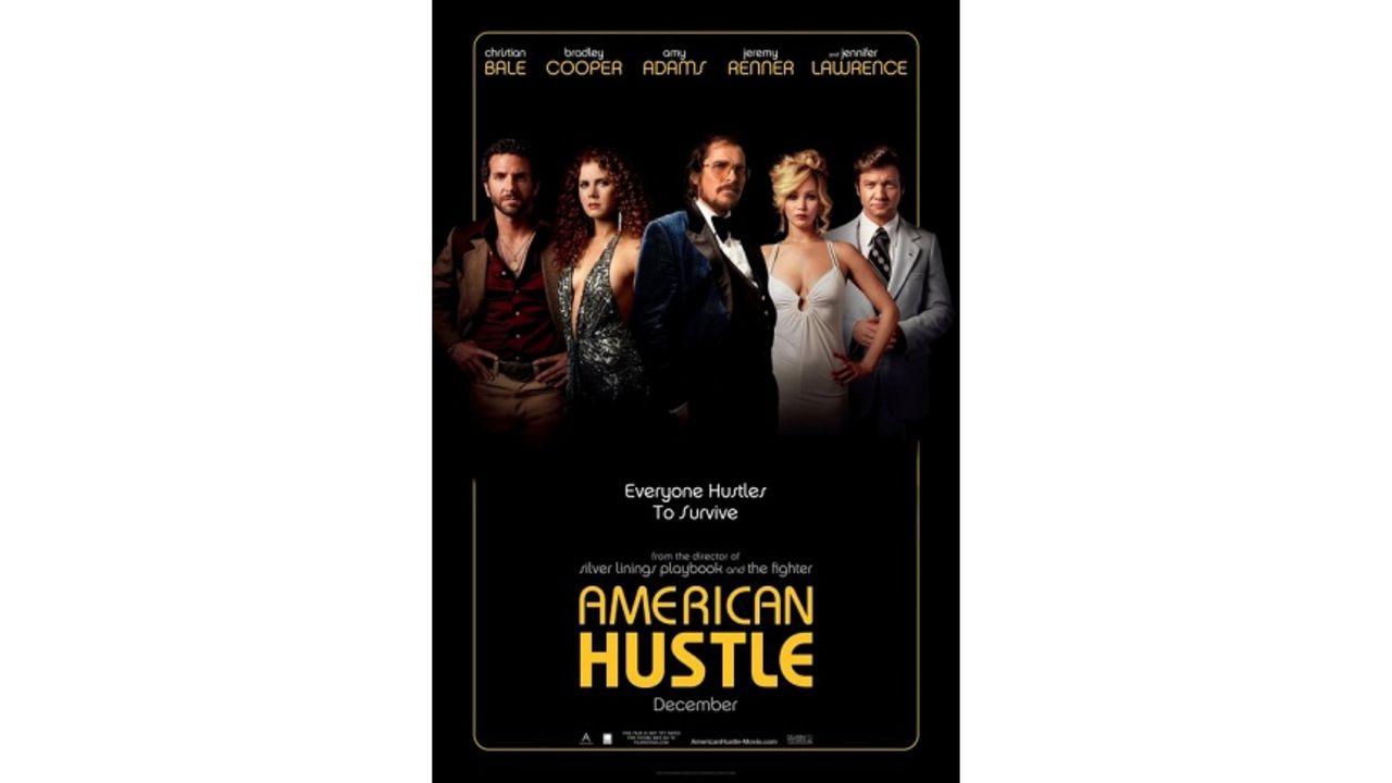"""Cartaz de divulgação do filme """"American Hustle"""""""