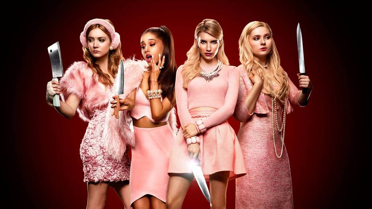 As quatro protagonistas de Scream Queens, série do Star Plus