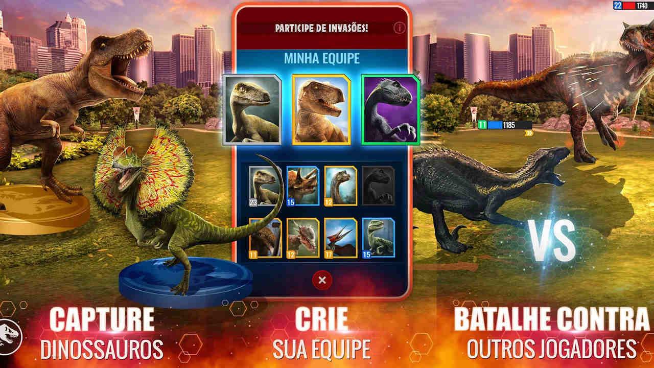 Imagens do jogo Jurassic World Com Vida