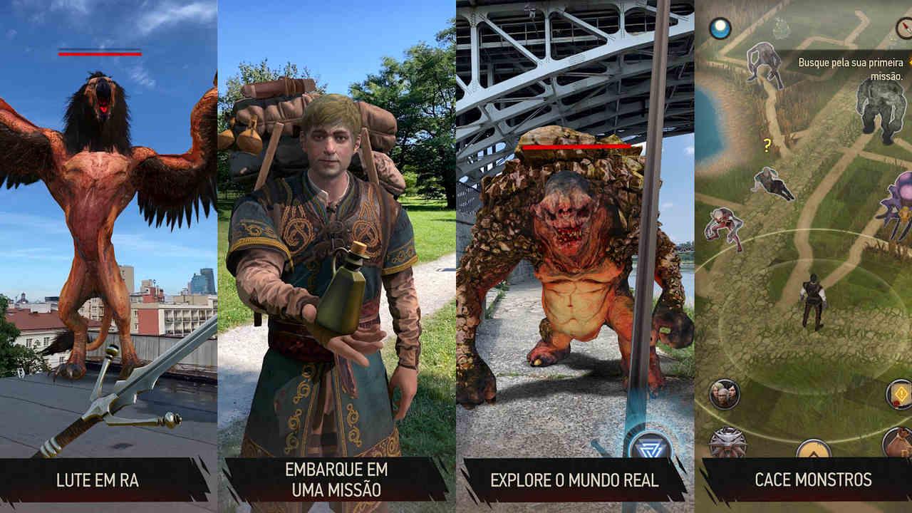 Imagens do jogo The Witcher: Monster Slayer