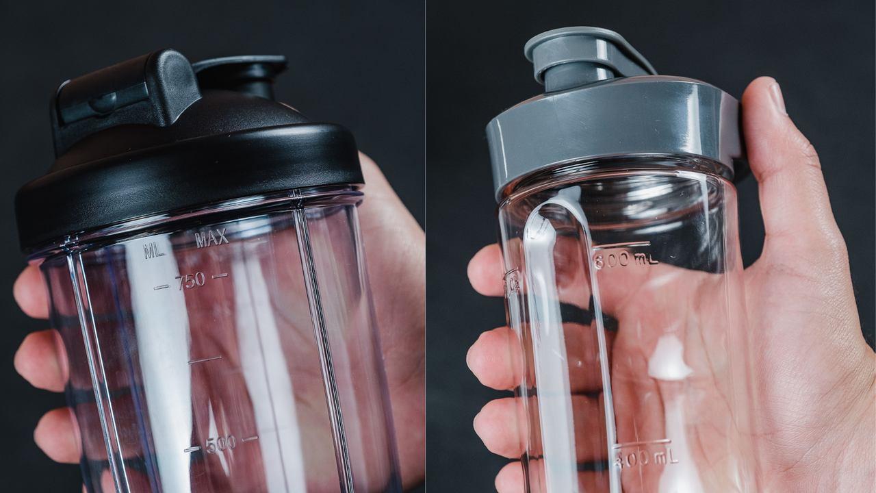 Apesar de diferentes, os dois copos funcionam e não vazam (Foto: Mosaico)