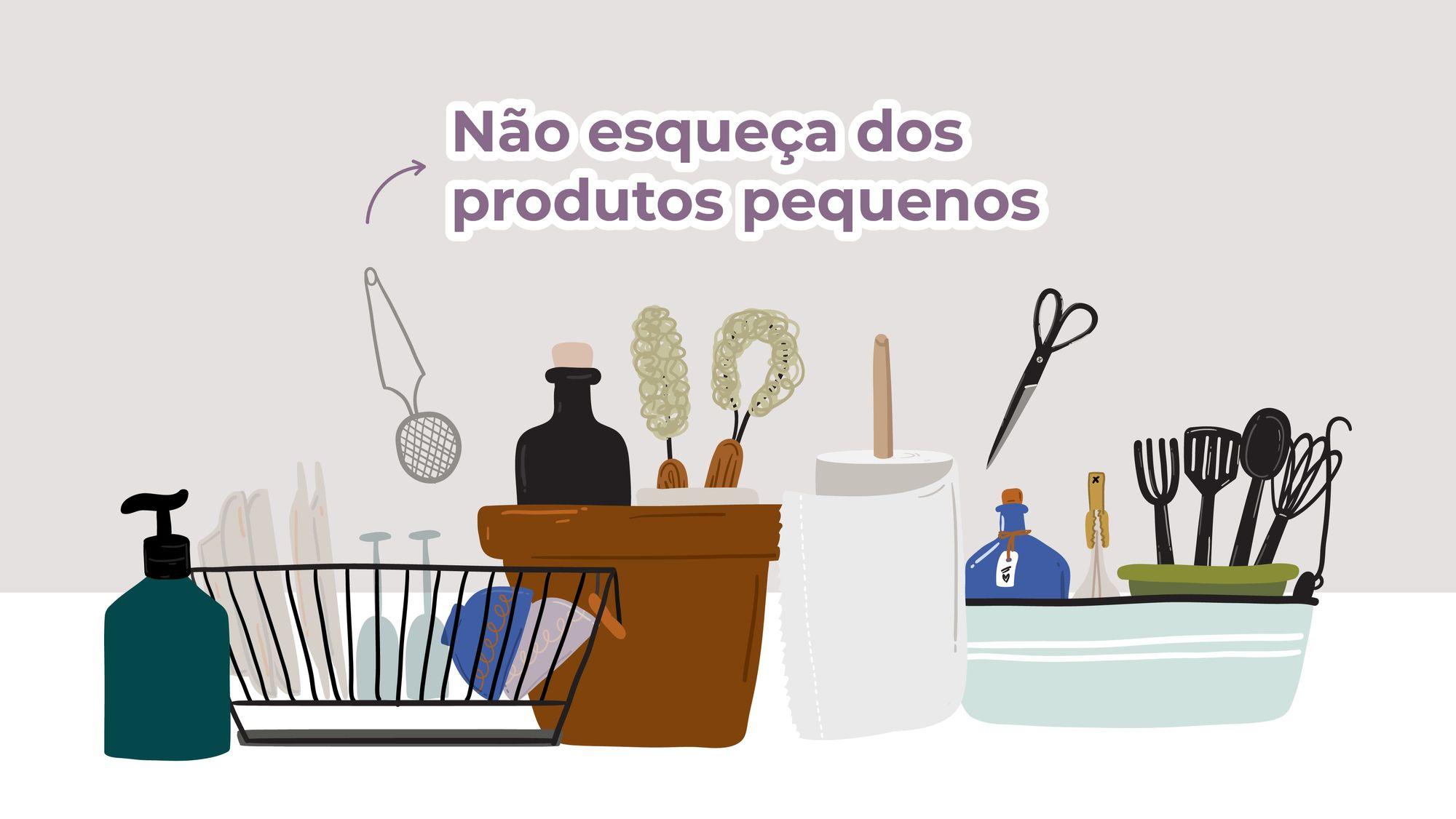 Ilustração de utensílios de casa e cozinha
