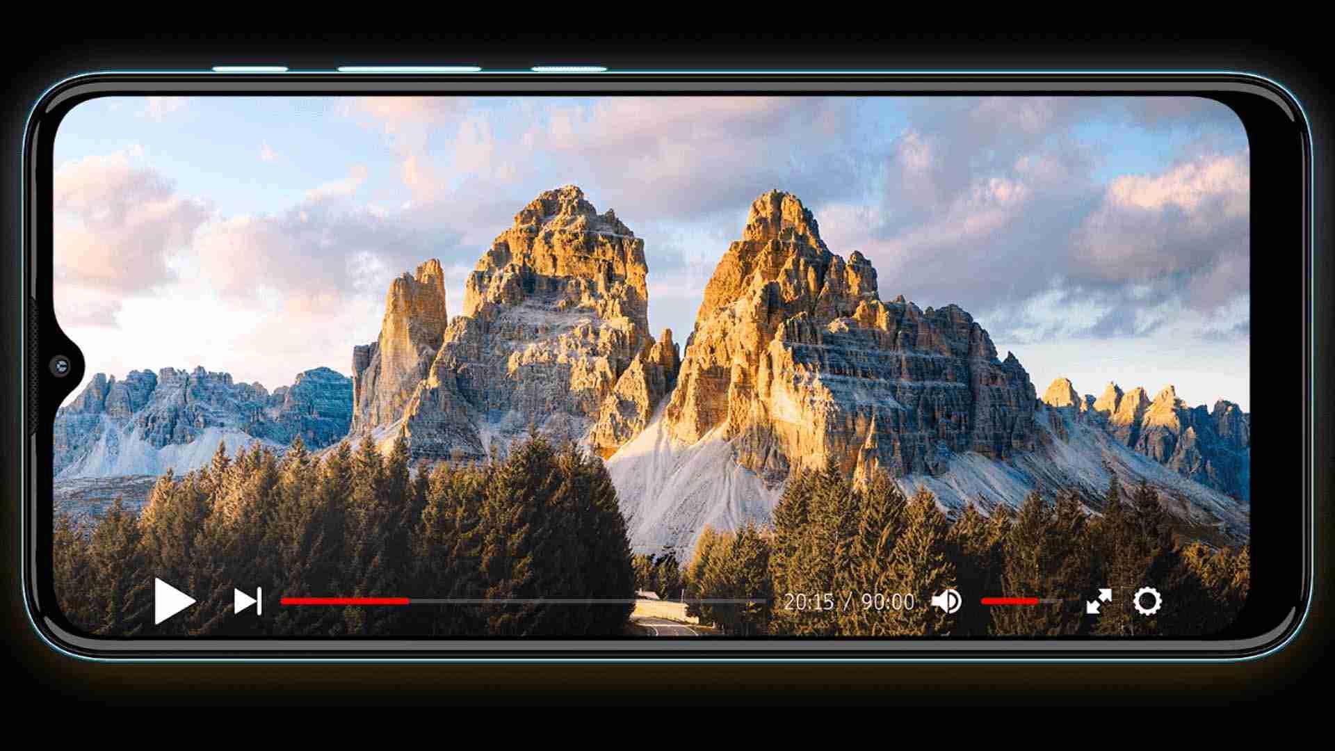Imagem do Mtoo E20 reproduzindo um vídeo