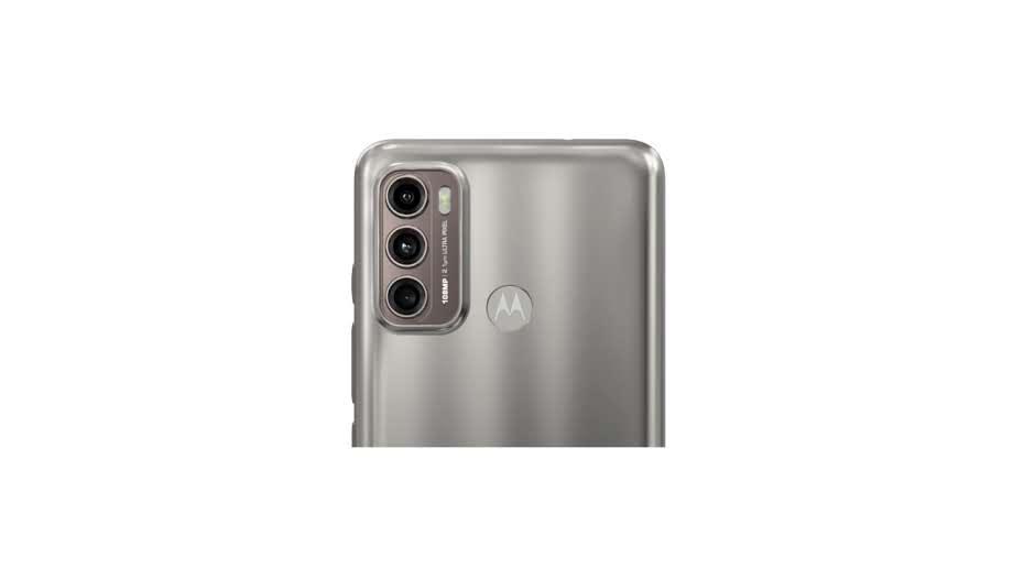 Traseira do Moto G60 com destaque para o conjunto de câmeras