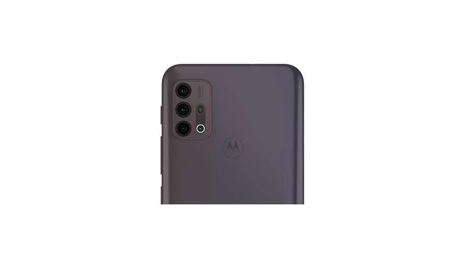 Traseira do Moto G30 com destaque no conjunto de câmeras
