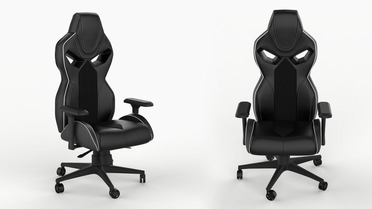 Cadeira paga gamer uma do lado da outra na cor preta