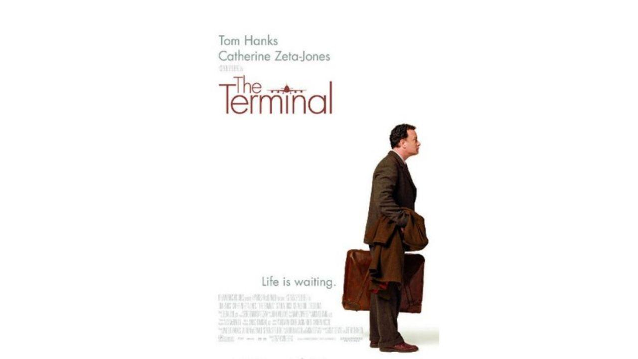 """Capa de divulgação do filme """"The Terminal"""""""