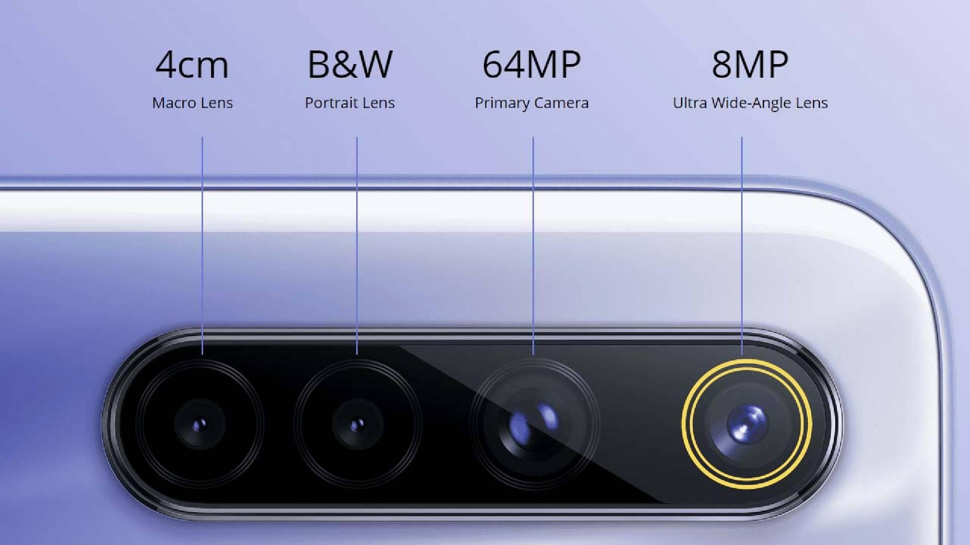 Imagem que mostra os sensores de câmera do Realme 6