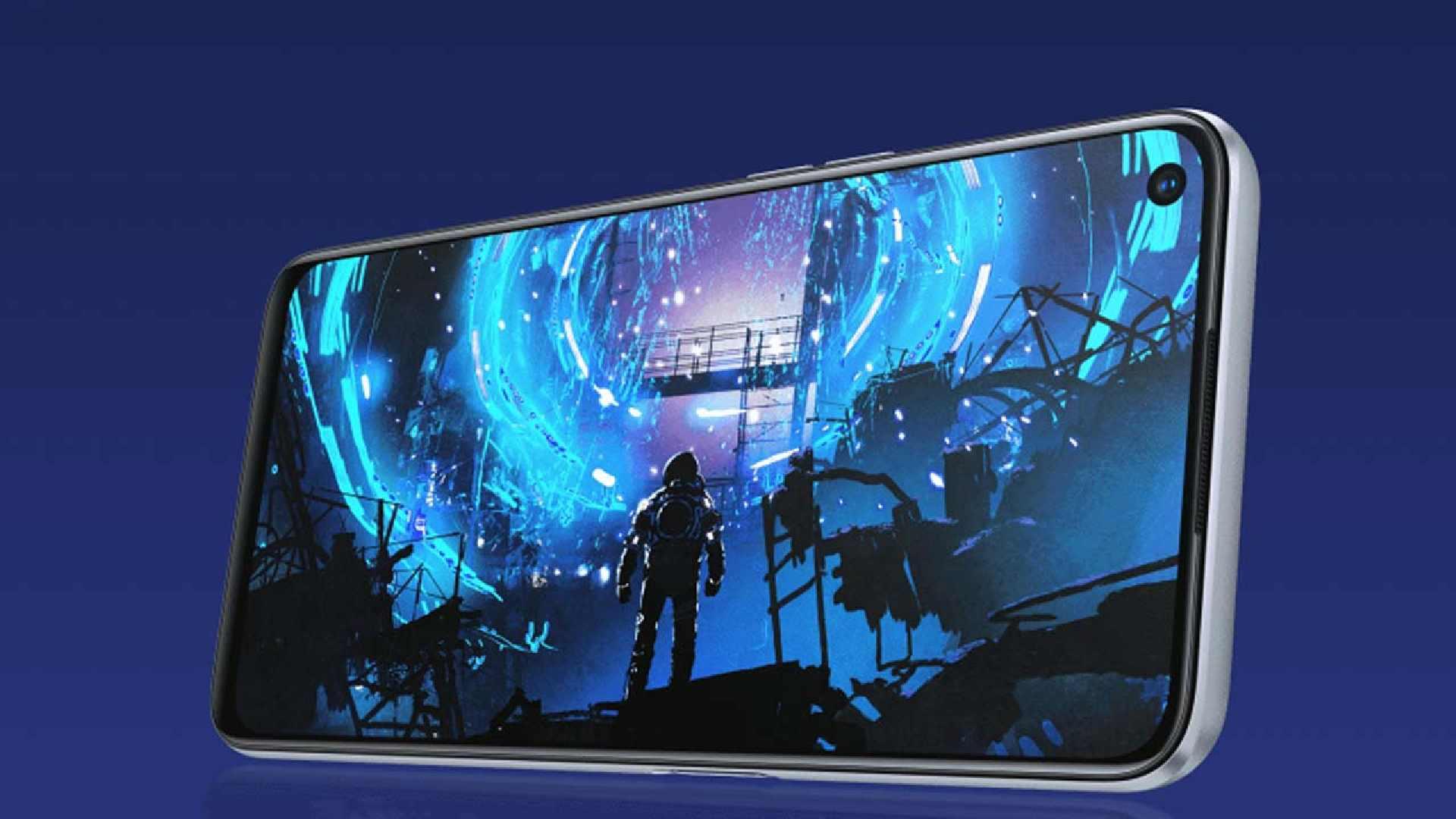 Imagem que destaca a tela do Realme 6