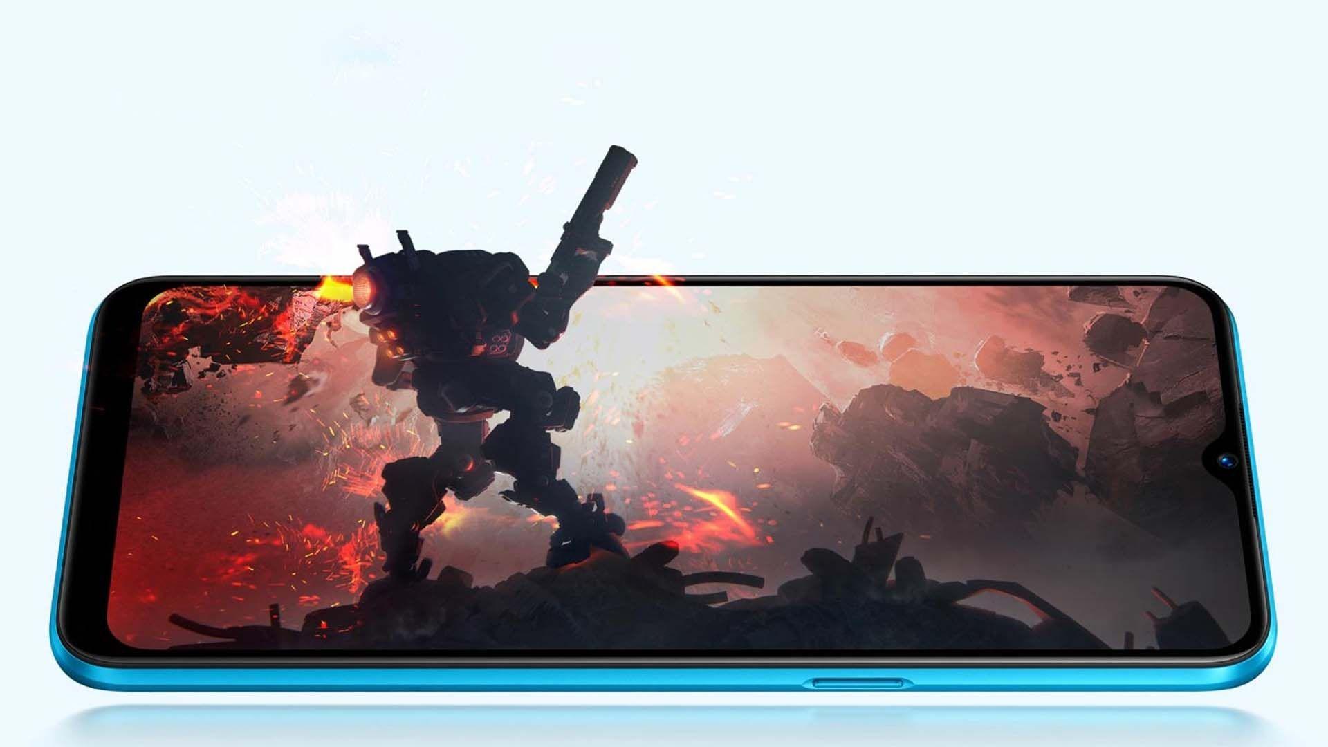 Imagem que mostra o Realme C3 executando um jogo