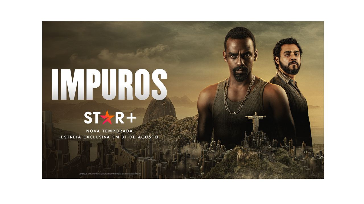 Cartaz de anúncio da terceira temporada de Impuros, série do Star Plus
