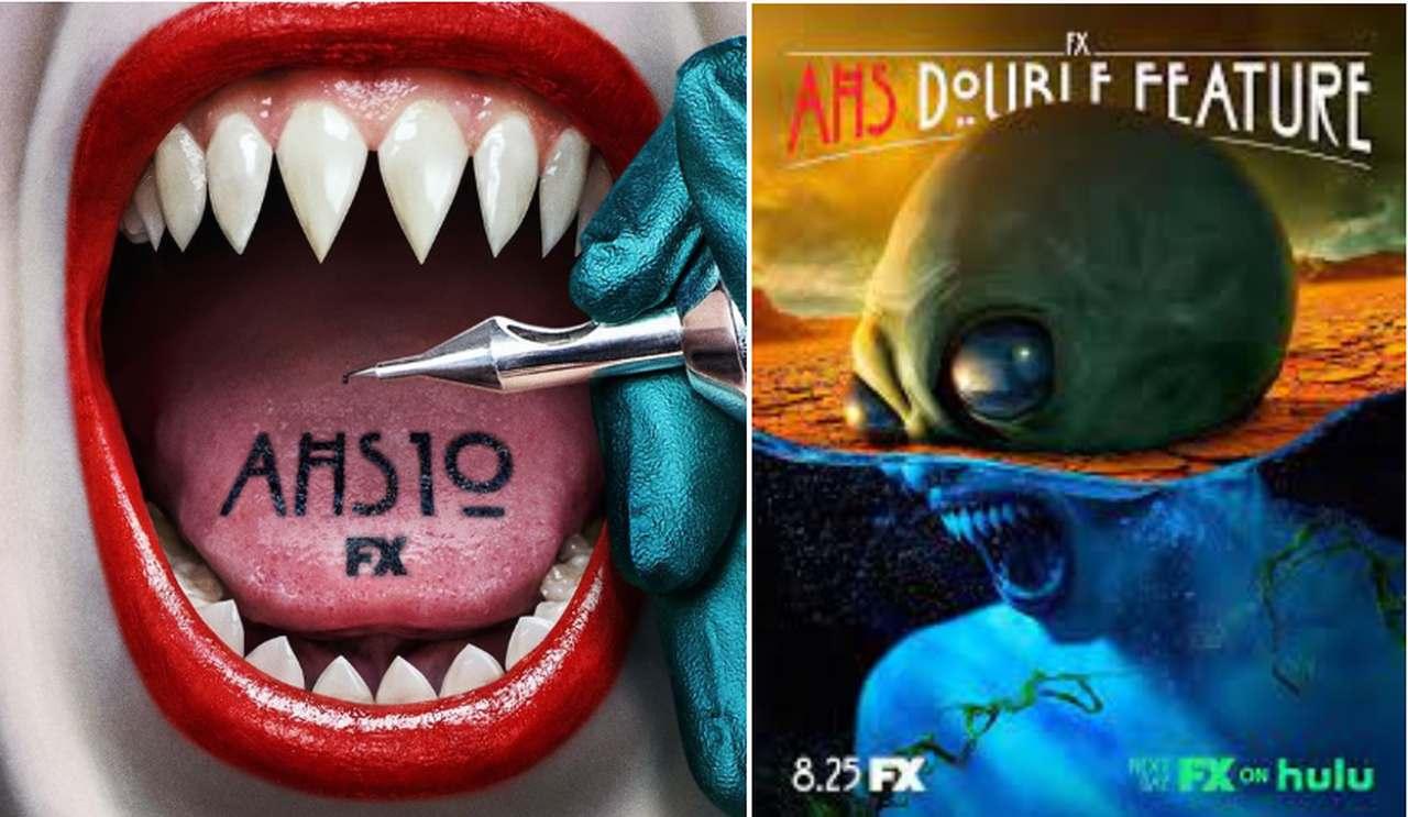 Cartazes da décima temporada de American Horror Story, que deve estrear no Star Plus em breve