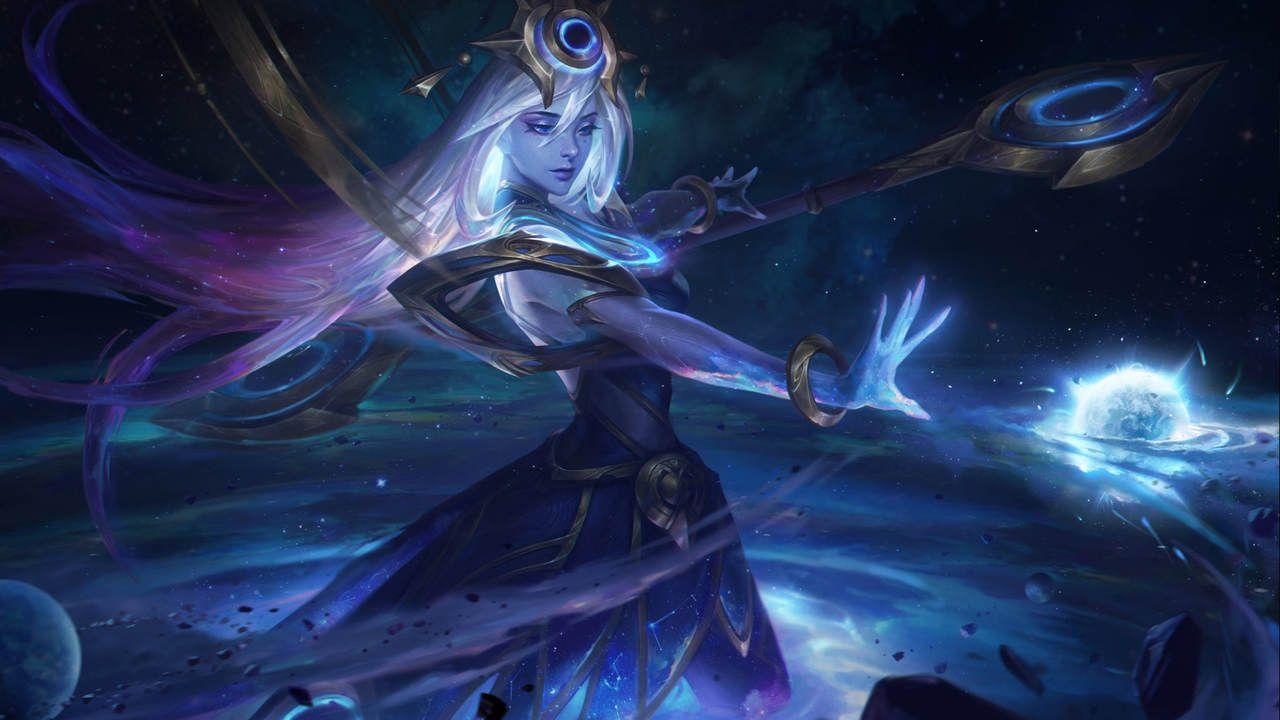 LoL skin  Lux Cósmica revelando seu poder cósmico