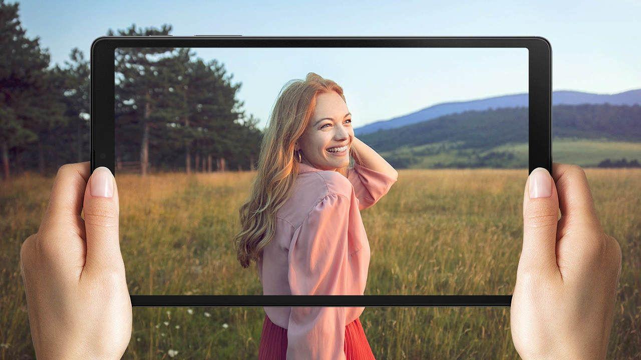 Imagem que destaca a tela do Galaxy Tab A7 Lite