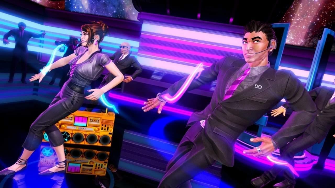 Dois personagens de Dance Central 3 dançando