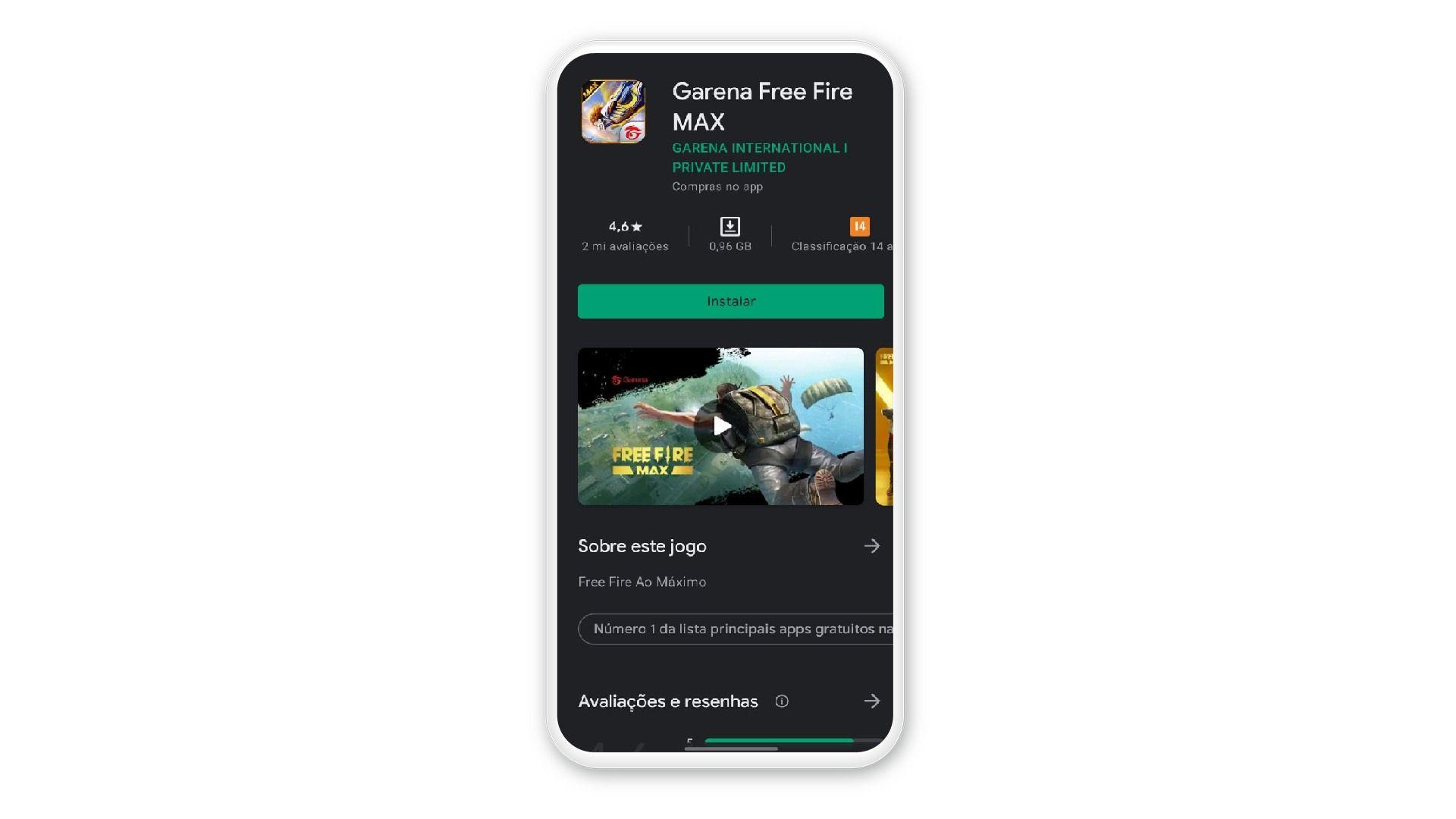 Print mostra jogo na Play Store