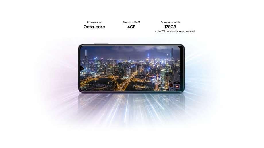 Imagem da tela do Galaxy M22 a baixo das configurações de desempenho