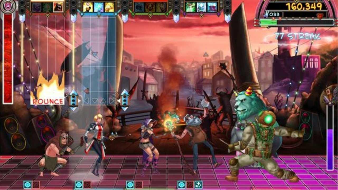 Gameplay de The Metronomicon: Slay the Dance Floor
