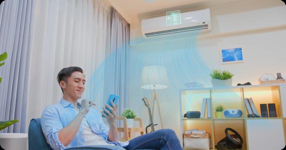 Ar condicionado com Wi-Fi